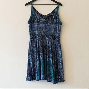 CYNTHIA ROWLEY BLUE SKATER DRESS